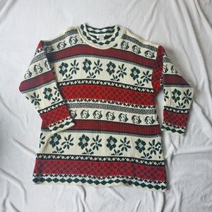 Karen sweater long vintage Nordic print
